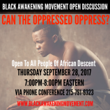 Can The Oppressed Oppress Flyer