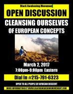 Cleansing Ourselves of European Concepts Flyer