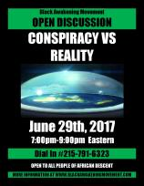 Conspiracy Vs Reality Flyer