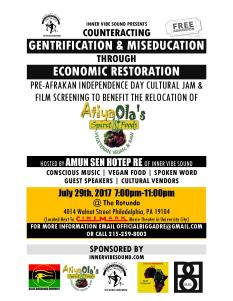Counteracting Gentrification and Miseducation Through Economic Restoration FLYER IMAGE