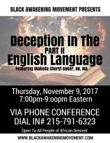 Deception in the English Language Pt II
