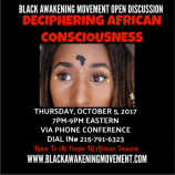 Deciphering African Consciousness Flyer