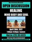 Healing Mind Body and Soul Flyer
