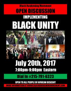 Implementing Black Unity Flyer