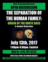 Origin of the White Race Flyer