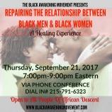 repairing the relationship between black men and black women flyer