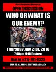 who-or-what-is-our-enemy-open-discussion-flyer