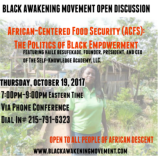 African Centered Food Security Flyer