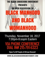 Black Manhood and Womanhood Flyer