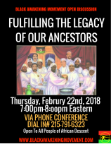 Fulfilling The Legacy of Our Ancestors