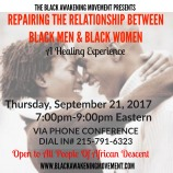 Repairing The Relationship between black men and women flyer
