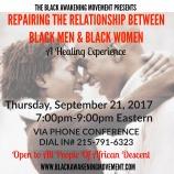 Repairing The Relationship between black men and women flyer